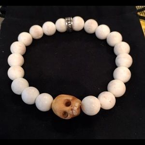 King Baby Studio Jewelry - King Baby White Coral skull Bracelet.925 8mm